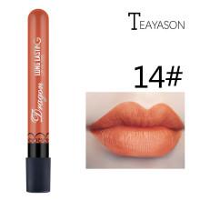 1Pcs Sexy Pale Orange Fog Velvet Matte Lip Gloss Matte Liquid Lipstick Women Lips Matt Make Up Lip Stick Maquillaje Lipgloss