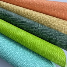 Recycled Double Color Linen Imitation Leather For Decoration