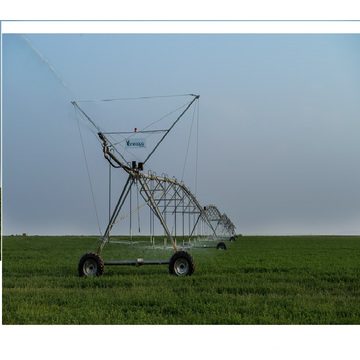 wheel base drive center pivot irrigation system