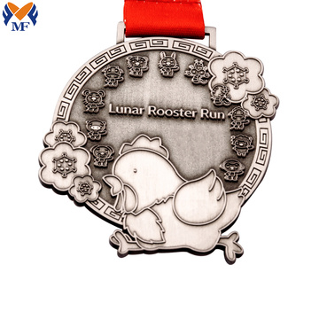 Custom made race award chicken design medals