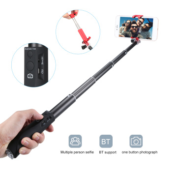 ABS+PC Selfie Stick BT Phone Selfie Stick for Smartphone Free Retractable Rod for Selfie Photo Taking Vlogging