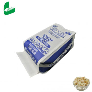 Greaseproof biodegradable paper microwave popcorn paper bag