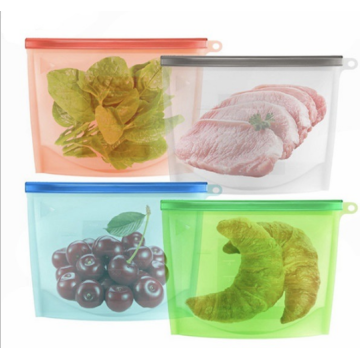 Microwaveable Silicone Freshness protection Bag For Food