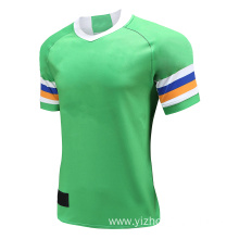 Mens Dry Fit Rugby Wear T Shirt Green