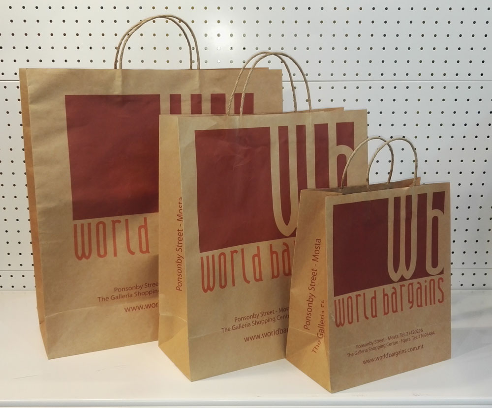 Brown Paper Grocery Bags Wholesale