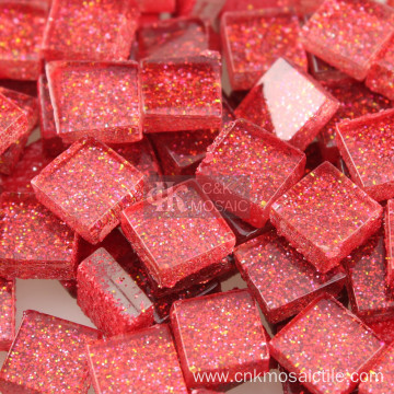 Red Glass Pieces Bulk for Mosaic Supplies