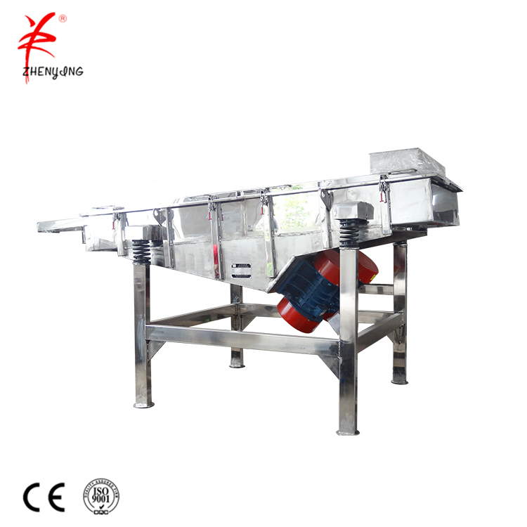 Electric sieve pebbles linear vibrating screen with good service