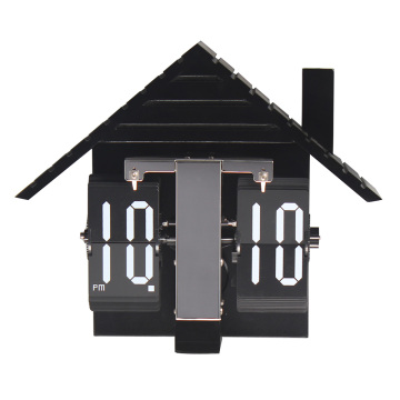 European MDF House Flip Clock Table
