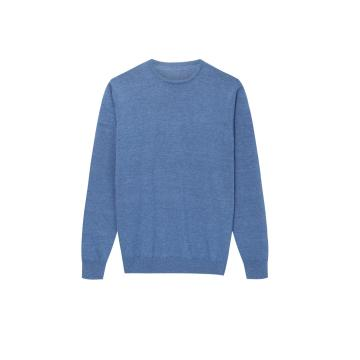 Men's Knitted Basic Pullover Cotton/Acrylic Causal Sweater