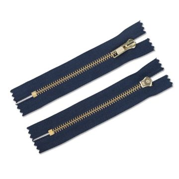 Atistic 14 inch metal clothing zippers for sale