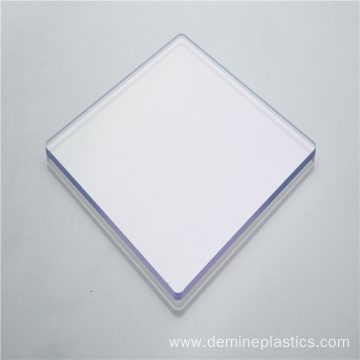 Clear transparency solid polycarbonate sheet protection
