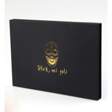 High Quality Black Print Logo Paper Gift Box