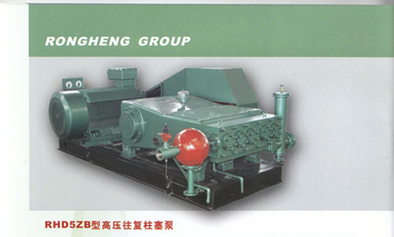 Adjustable flow type high pressure plunger pump