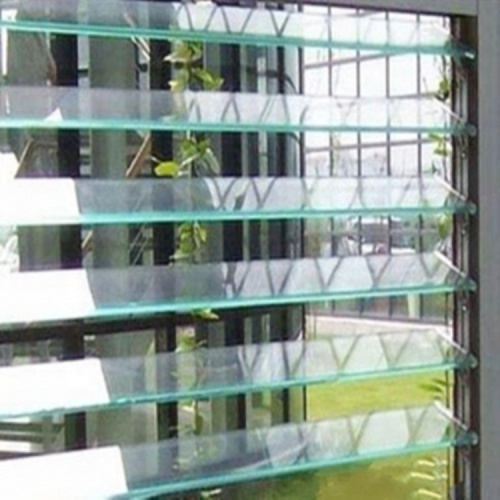 4mm 5mm 6mm Tempered Tinted Frosted Louvre Glass