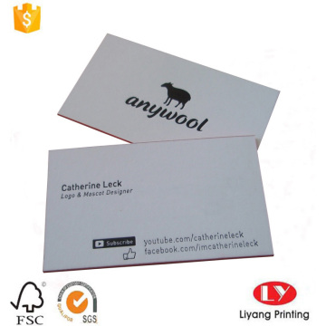 Custom thick business card with black printing