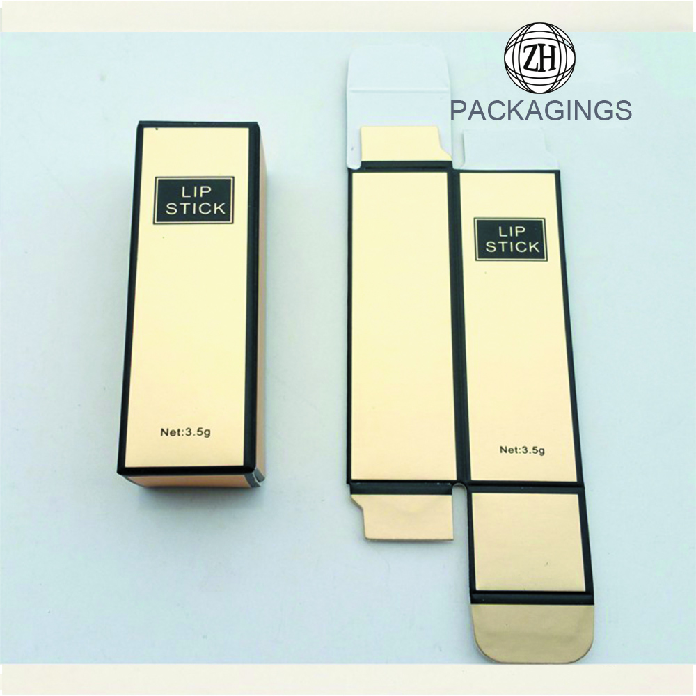 Golden Small Lip Gloss Boxes Packaging