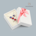 Fashion white earrings packaging box with spong