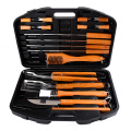box with 18pcs stainless steel tools for bbq