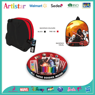 STAR WARS license mini backpack with stationery
