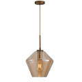 Glass Pendant Lamp with Metal Lampholder