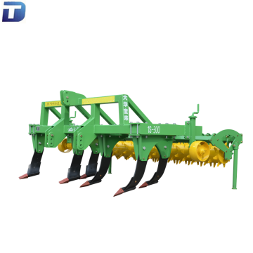 Farm equipment tractor deep subsoiler soil loosening machine