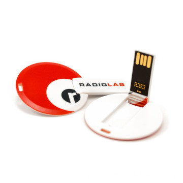 Round Card USB Flash Drive Customized