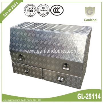 High Sided Aluminum Truck Tool Box With Drawers