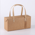 Custom kraft paper takeout gift boxes with handle