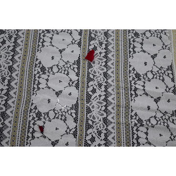 Nylon Cotton Rayon Metallic Lace Fabric