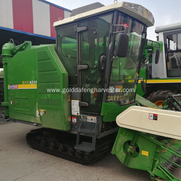 crawler rice harvester enhanced gearbox with cab