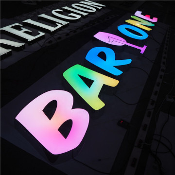 Raised Letter Plastic Lettering Led Word Lights