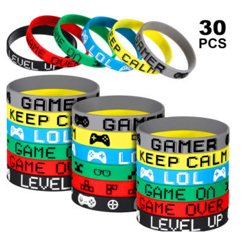 Custom Printing Game Party Rubber Bracelets