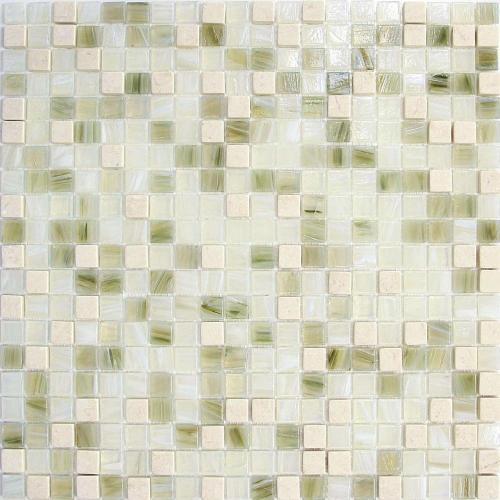 Minimalist of glass and stone mosaic tiles