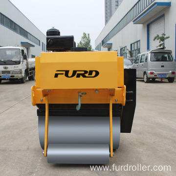 500kg hand operated diesel engine mini compactor road roller FYL-700C