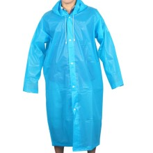 Waterproof plastic PVC raincoat hooded with sleeves