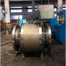 3PCS Cast Steel Body Trunnion Mounted Ball Valve