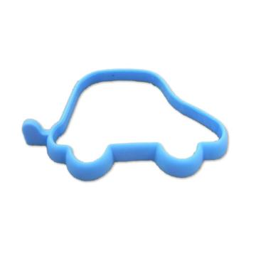 New Funny Lunch Egg Tool Blue Car Shape Silicone Egg Omelet Rings