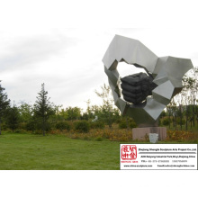Carving Kinetic Stainless Steel Sculpture