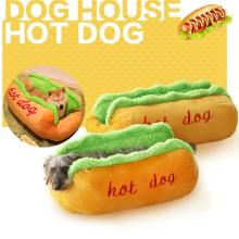Funny Hot Dog Bed Pet Lounger Doggie Bed Kennel Cat Puppy Warm Soft House Warm Sofa Mat Basket Blanket Hotdog Beds Sleeping Bag