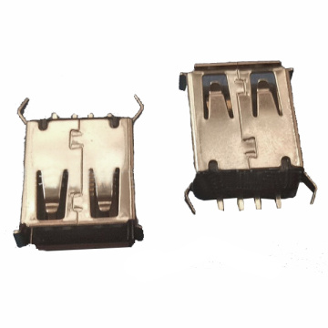 UAFS14 USB A Type Receptacle Straight Dip