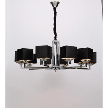 Modern Restaurant White/ Black Lampshade Chandelier