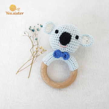 Crochet Baby Teething Toys With Wooden Ring