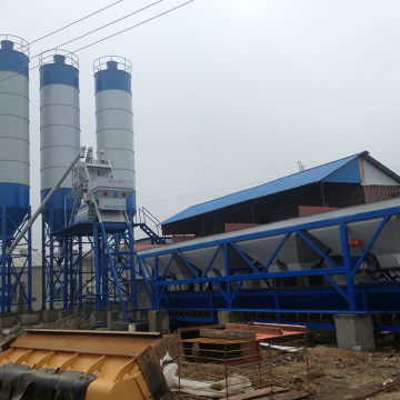 High quality hopper lift 75m3 concrete mixing plant