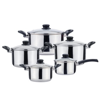 10pcs boiling pot set cookware with bakelite handle