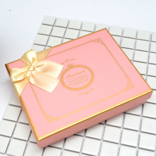 Chocolate gift box with paper divider