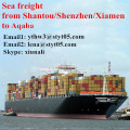 Sea freight from Shantou Shenzhen Xiamen to Aqaba