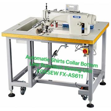 Automatic Shirts Collar Run-Stitch Sewing Machine Unit