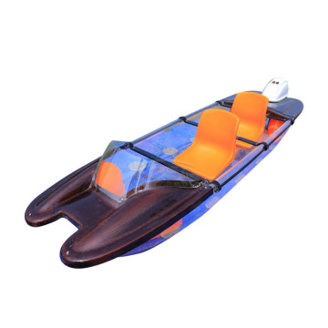 Plastic Rowing Boat Glass Polycarbonate Kayak