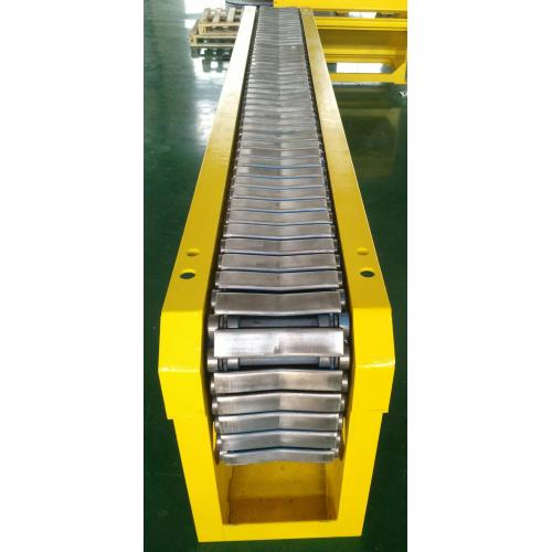 V-Slat conveyor for paper roll and reels