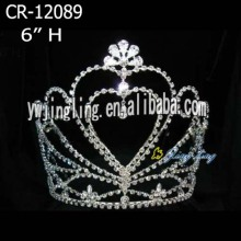 "6"" Wholesale rhinestone pageant crown and tiara"